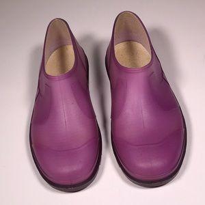 Chanel Purple/Pink Ankle Rubber Rain Boots